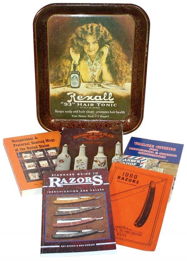 515: Barber shop items (6); 20th Century Rexall Hair Tr