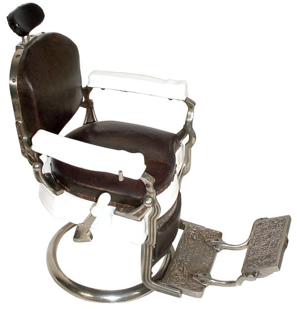 819: Salesman's sample barber chair, Koken Barber Suppl