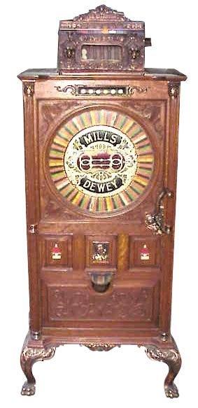 783: Floor model slot machine, Mills Dewey, 25 Cent