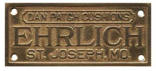 Billiard Table Identification Plate Ehrlich St - Pool table identification