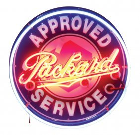 Automotive neon sign, Packard Approved Service, a newer