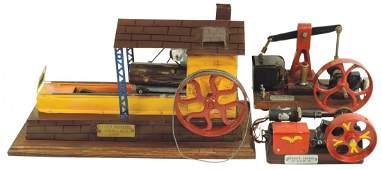 Steam toys (3), handmade Steam Engine Model, c.1950,