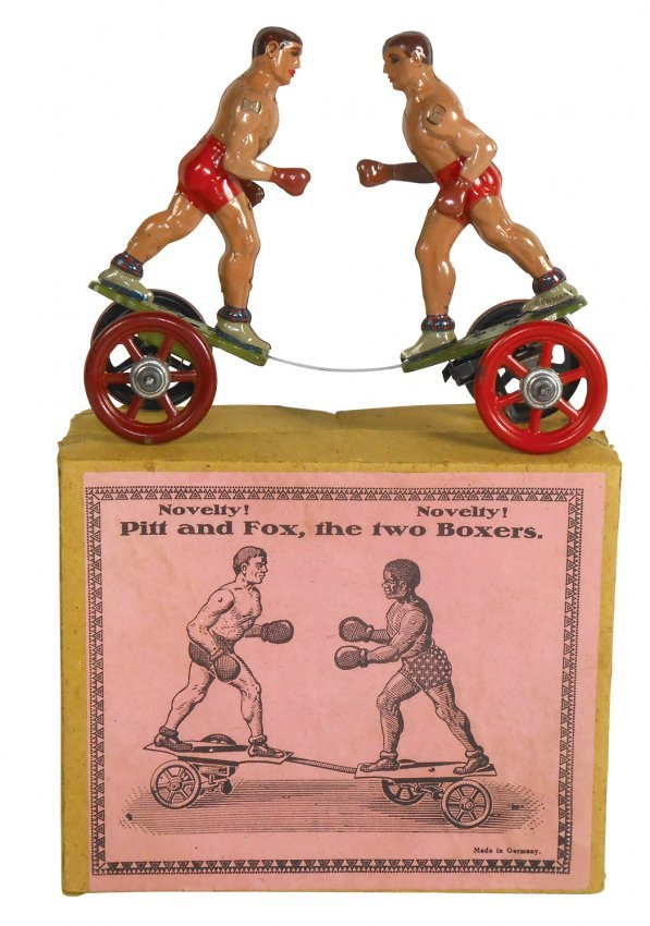 Toy boxers, Pitt & Fox-The Two Boxers, German windup