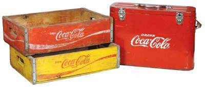 Coca Cola Airline Cooler, baked enamel finish, lined in