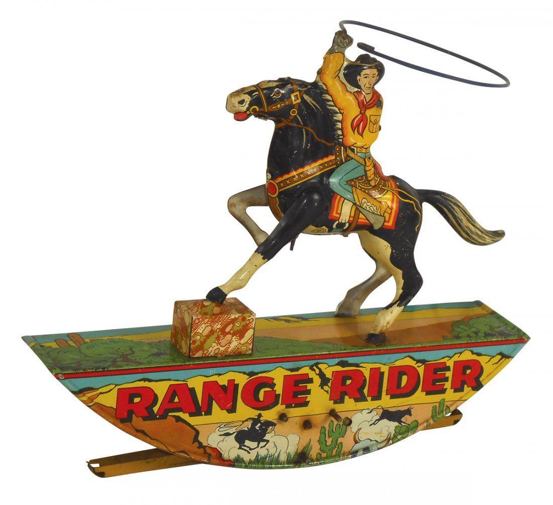Toy Marx Range Rider, litho on tin windup, c.1950's,