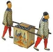 Toy, Lehmann Kadi, 2 Chinese men carrying a tea cart,
