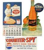 Soda fountain signs  calendar 3 1960 Double Cola