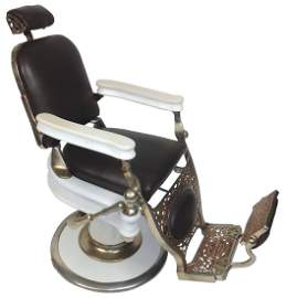Salesman's sample barber chair, Theo. A. Kochs, one of