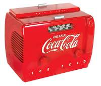 Coca-Cola radio, cooler style, Model 5A410A, c.1950's,