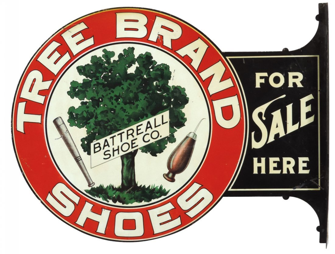 Shoe store sign, 76 District Tree Brand Shoes &