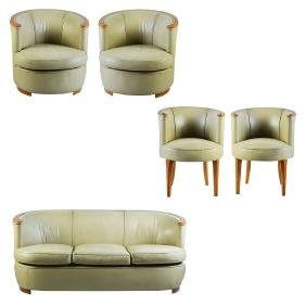 A FRENCH VINTAGE ART DECO STYLE FURNITURE SET