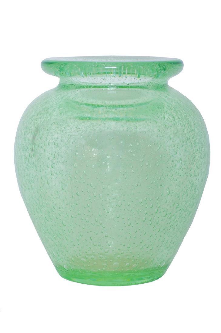 A DAUM NANCY BUBBLE GLASS VASE