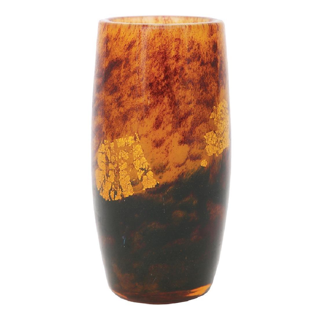 A DAUM NANCY MOTTLED GLASS VASE