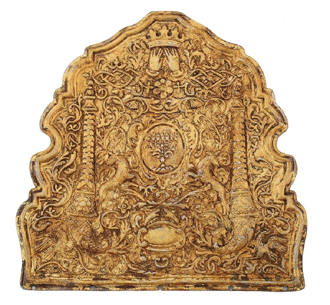 A SILVER-GILT TORAH SHIELD