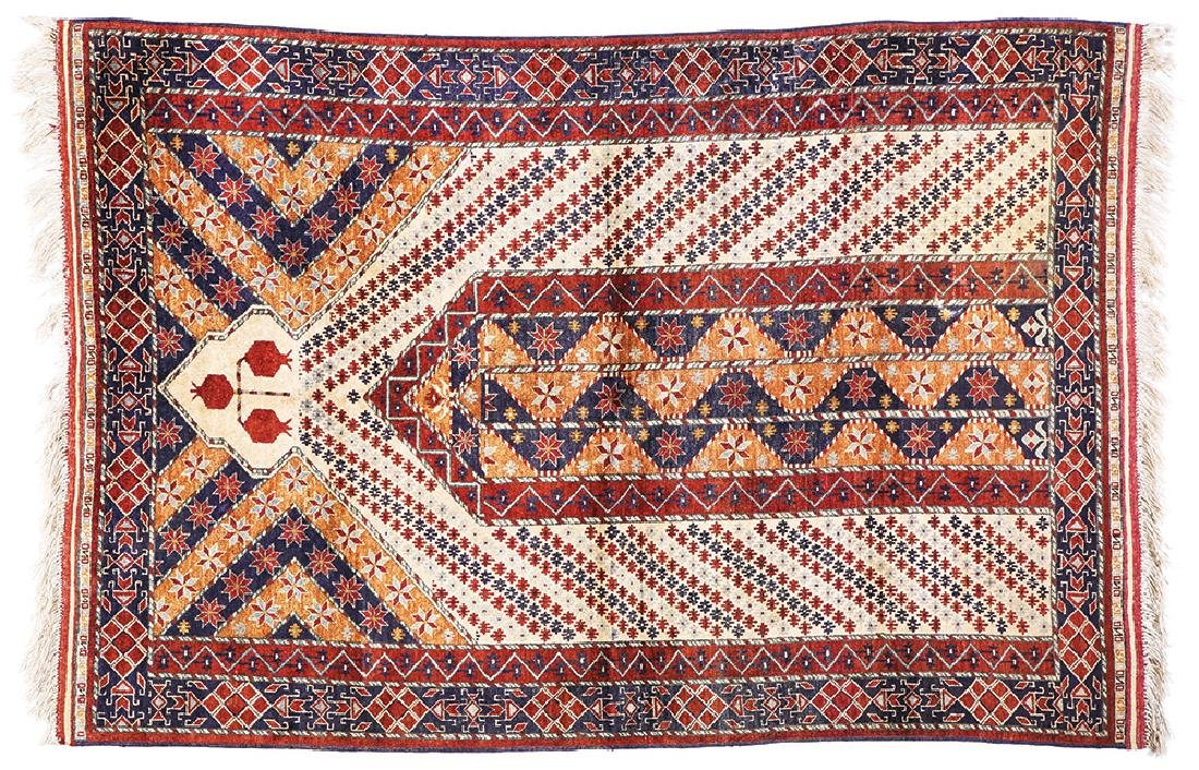 AN OLD TURKISH PRAYER RUG