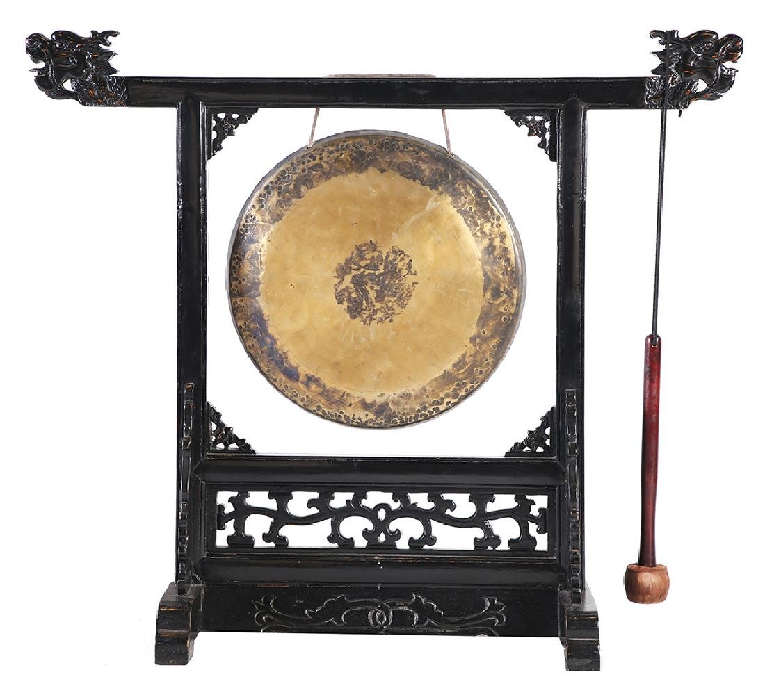 A CHINESE BRASS GONG