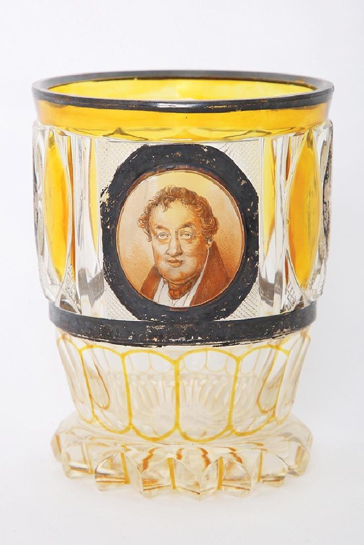 A BOHEMIAN CRYSTAL GLASS GOBLET