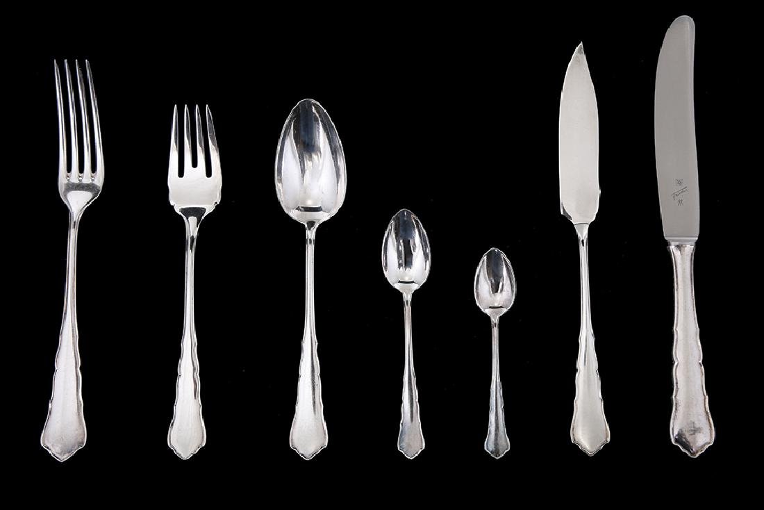 A WMF GERMAN SILVER FLATWARE SERVICE FOR TWELVE