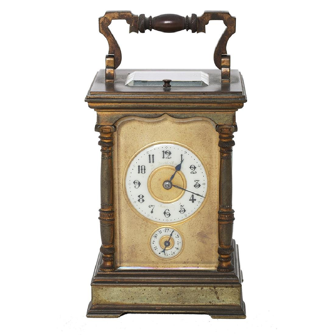 A CARRIAGE/ ALARM/ REPEATER CLOCK