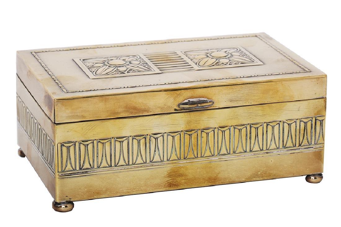 A WMF ART-DECO CIGARETTE BOX