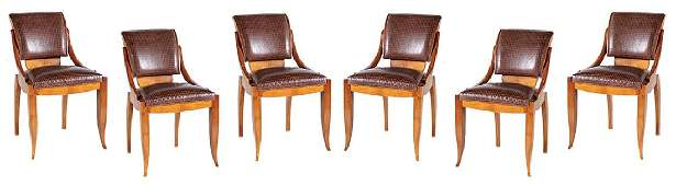 A SET OF SIX ART-DECO STYLE DINING CHAIRS