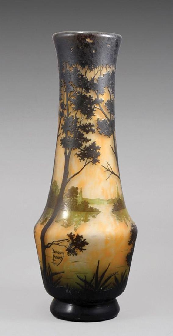 A DAUM NANCY CAMEO GLASS VASE