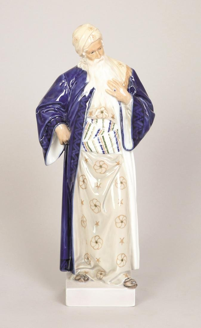 A ROYAL COPENHAGEN PORCELAIN FIGURE OF NATHAN THE WISE
