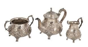 A VICTORIAN SILVER COFFEE AND TEA SERVICE