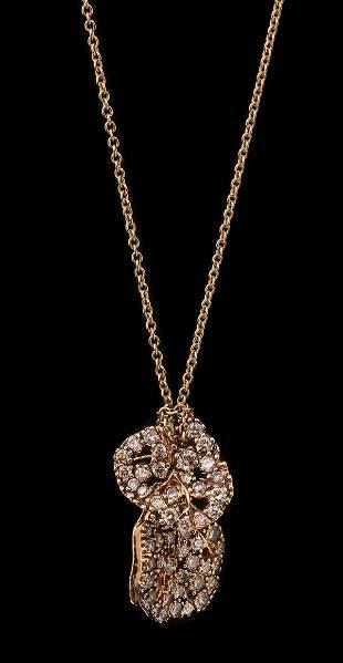 AN 18K H.STERN ROSE GOLD PENDANT