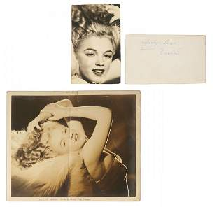 TWO PHOTOGRAPHS BY MARILYN MONROE