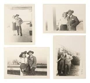 FOUR PHOTOS OF MARILYN MONROE WITH BODYGUARD, AVIV