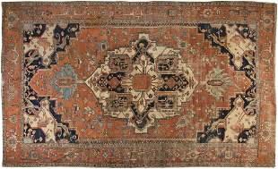 A PERSIAN SERAPHI 19th CENTURY CARPET