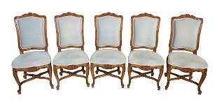 A SET OF 10 FRENCH DINING CHAIRS