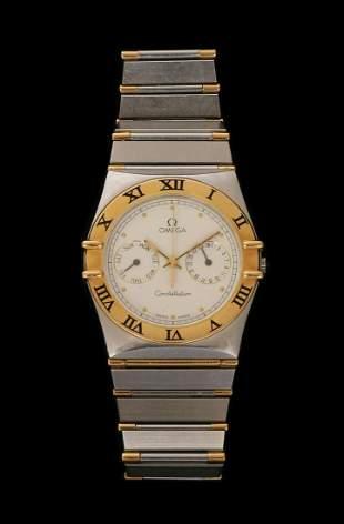 OMEGA 18K GOLD INTEGRATED STEEL WRIST WATCH