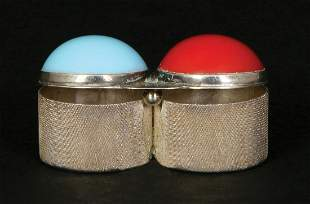 GUCCI STERLING SILVER AND INSET STONE CONTAINER FOR