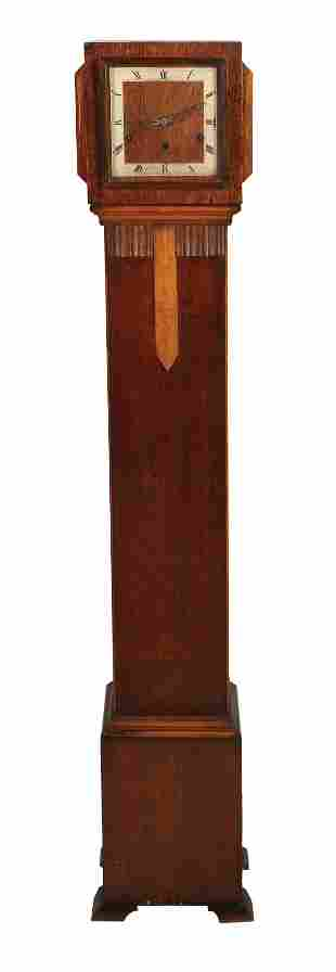 ENGLISH ART-DECO SHORTBOX CLOCK, CIRCA 1930