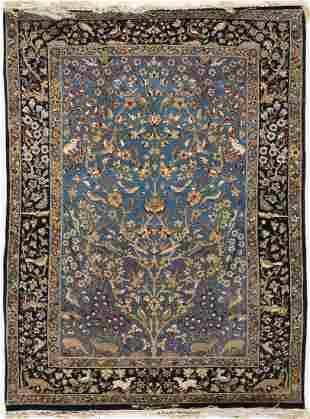 AN SANAYEE RUG, ISFAHAN PERSIA, MID 20TH CENTURY