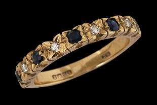 A 9K GOLD VICTORIAN RING