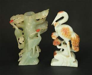 A LOT OF TWO CHINESE SCULPTURES