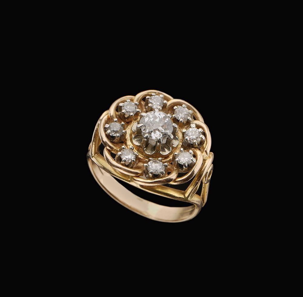 A 14K PINK GOLD RING
