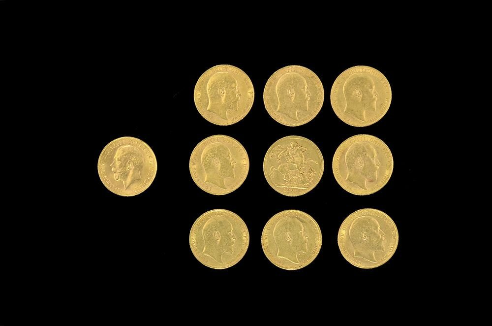 Lot Composed of 10 Gold Coins