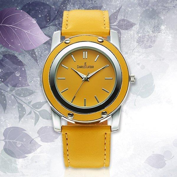 Charles Latour Yellow Exotic Ladies Watch