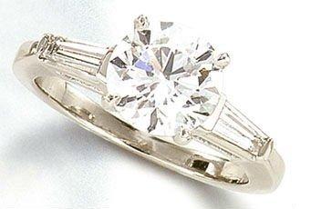 1.60 ct Platinum diamond engagement ring