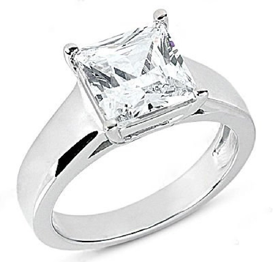 1.01 Ct. engagement ring white gold VS1