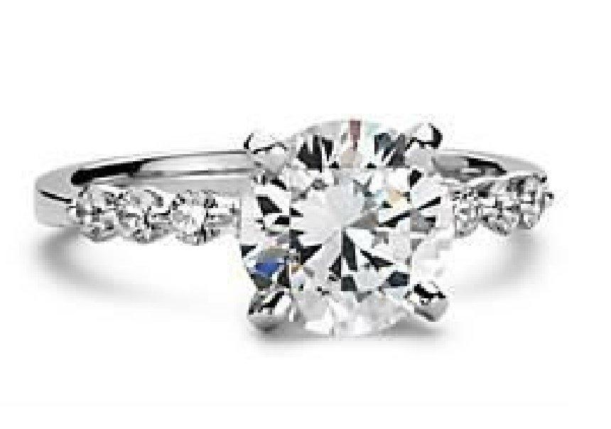Amazing beautiful huge of Color 3.91 ct. wedding ring