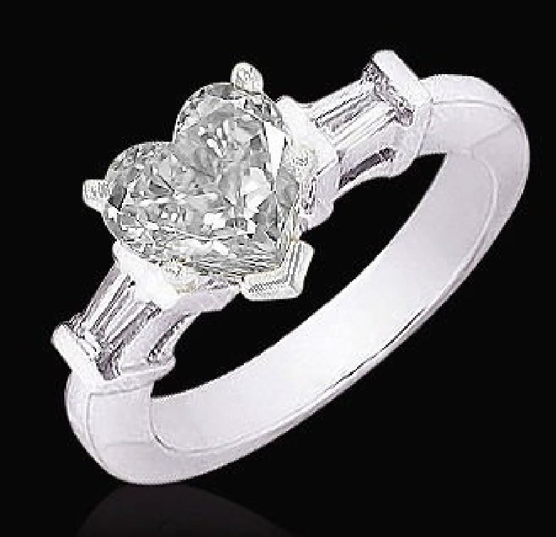 Lovely Heart engagement ring 2 TCW