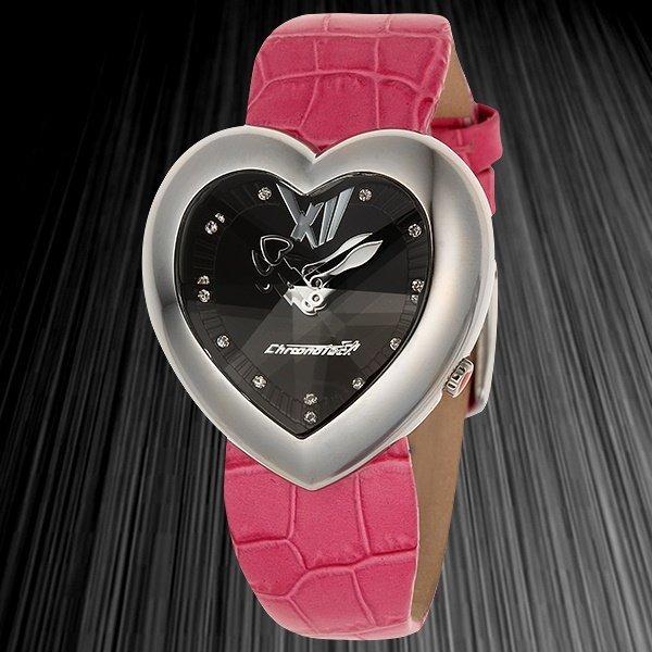 Pink Heart Ladies Watch Designer Chronotech