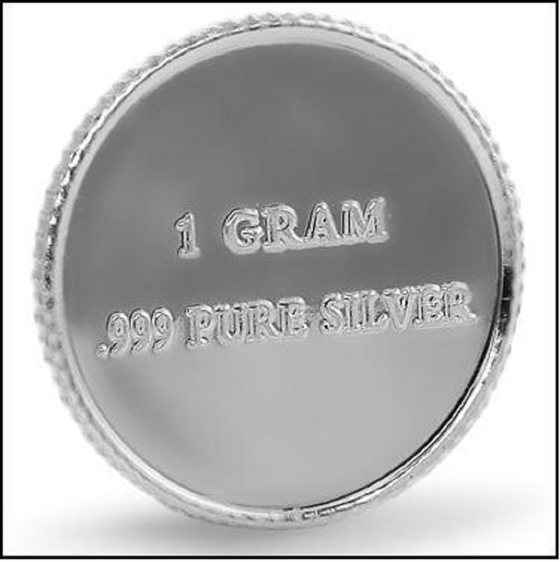 Pure Silver Round Liberty BellCollectors One Gram .999