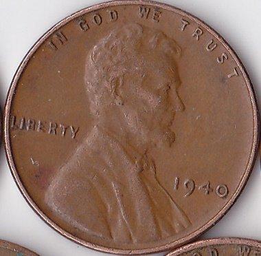 1940 Wheat Penny