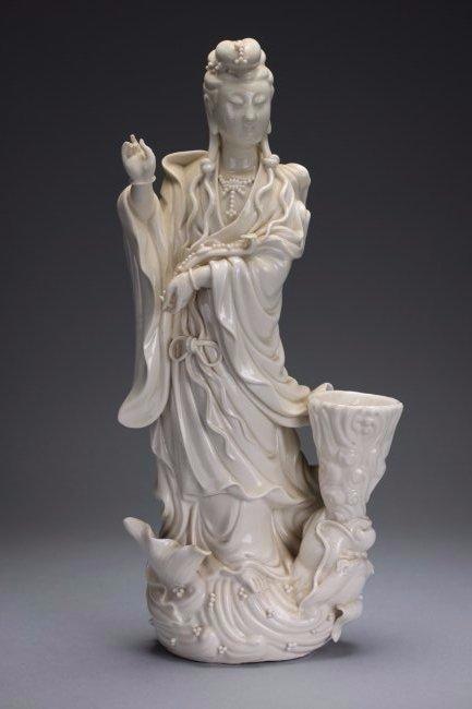 A 'DEHUA' Figure of Guanyin, 19th Century.